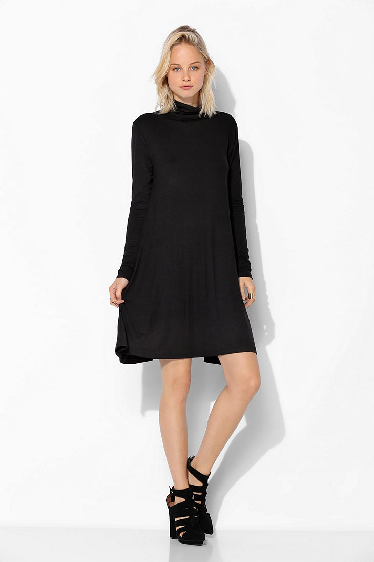 Urban Outfitters Sparkle Fade Knit Turtleneck Swing Dress