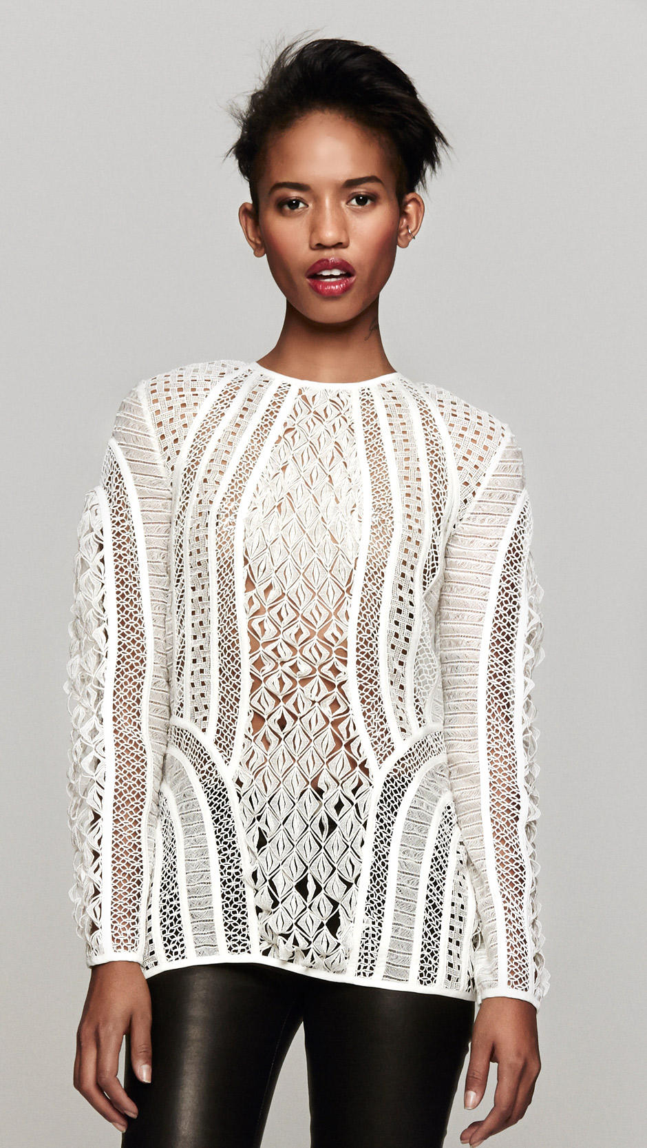 Lyst - Zimmermann Good Love Contour Lace Top in White