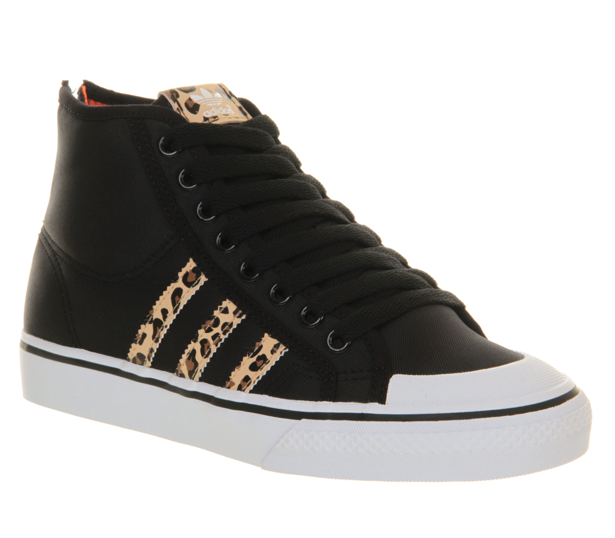 adidas Nizza Hi Heel Zip in Black for Men