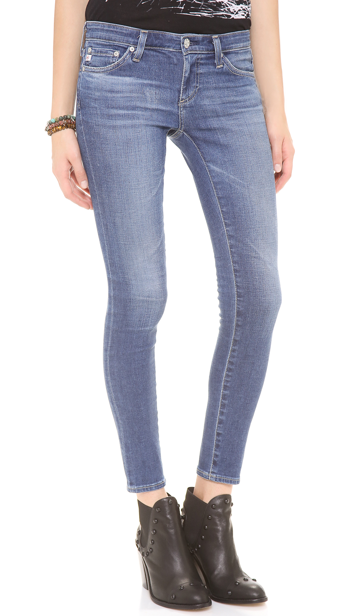 ag jeans legging ankle jeans in blue 18 year lyst. Black Bedroom Furniture Sets. Home Design Ideas