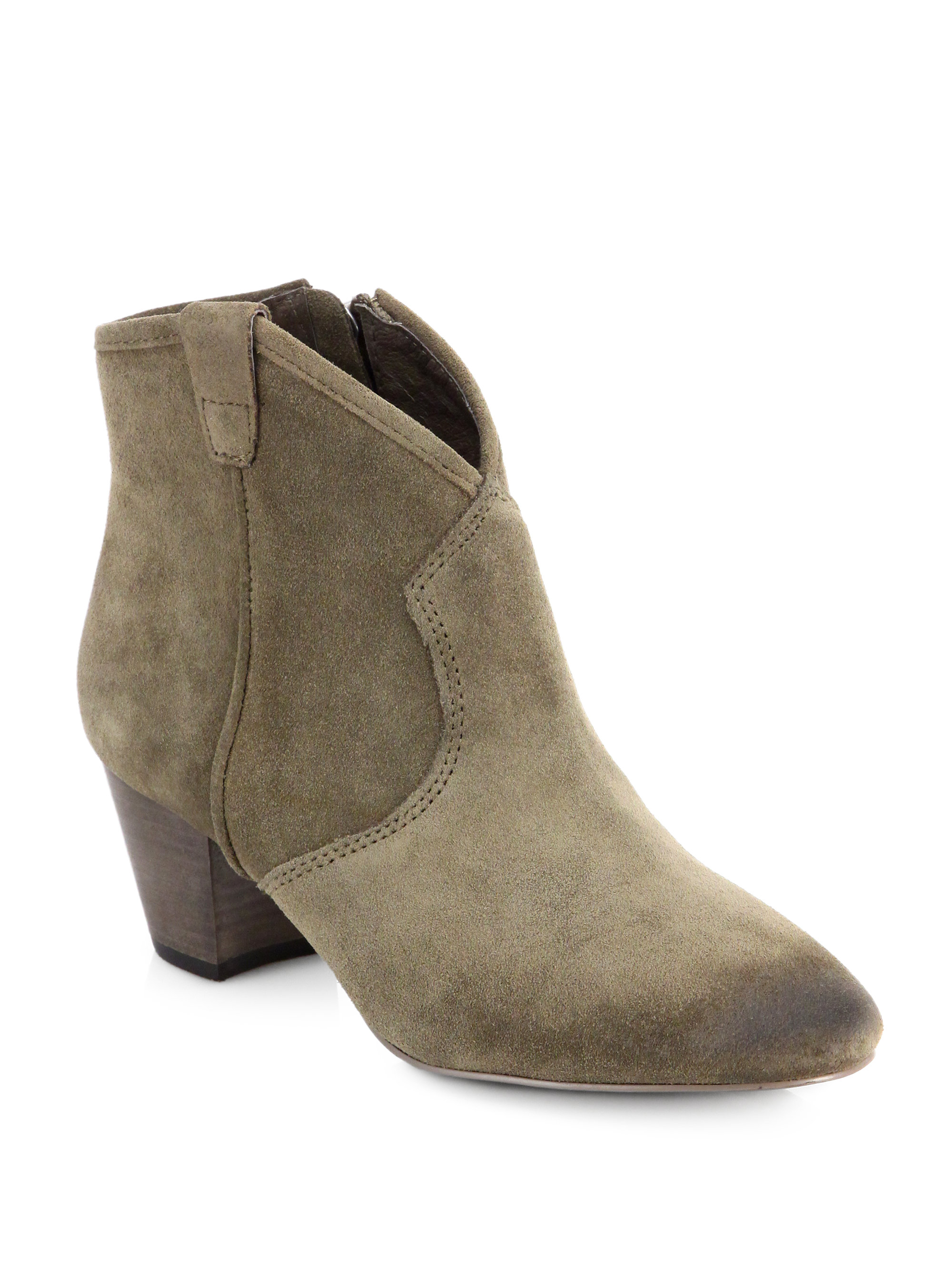 cb0ff8812e1 Lyst - Ash Spiral Suede Ankle Boots in Brown