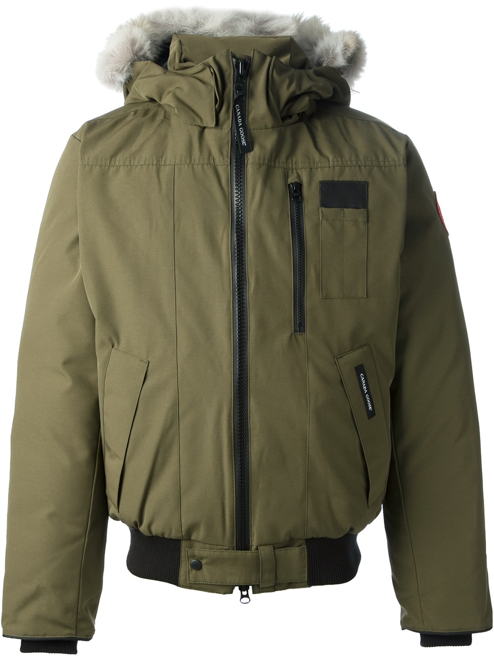 canada goose borden bomber jacket in green for men lyst. Black Bedroom Furniture Sets. Home Design Ideas