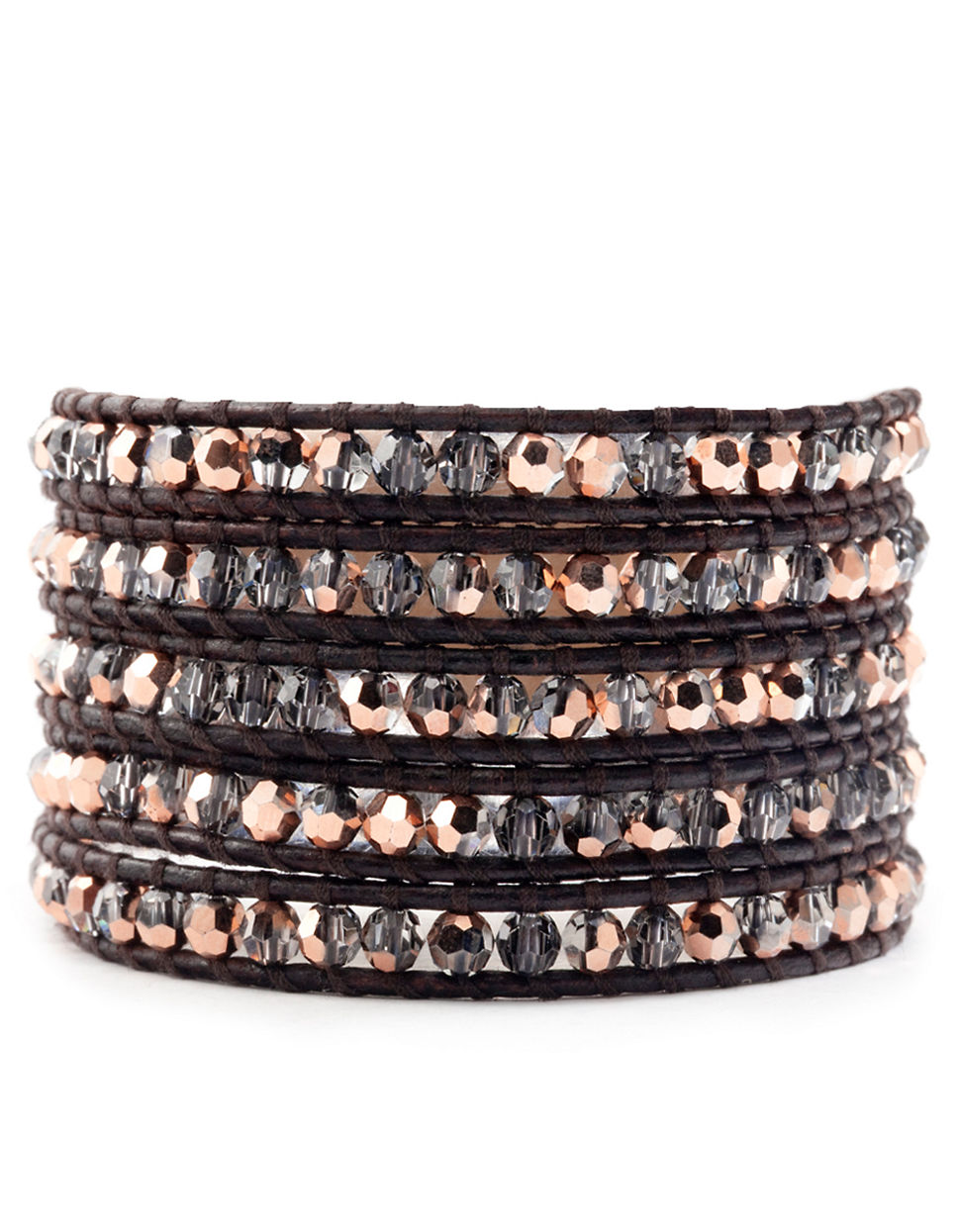 Lyst Chan Luu Swarovski Crystal Leather Wrap Bracelet In