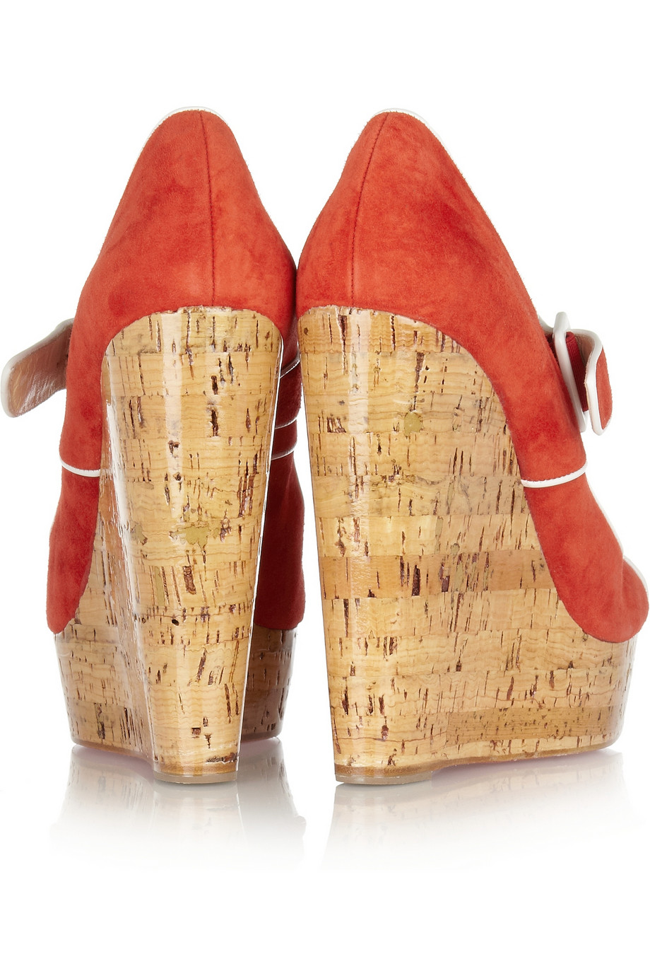 d6816f885ba Christian louboutin Melides 140 Suede Wedge Sandals in Red