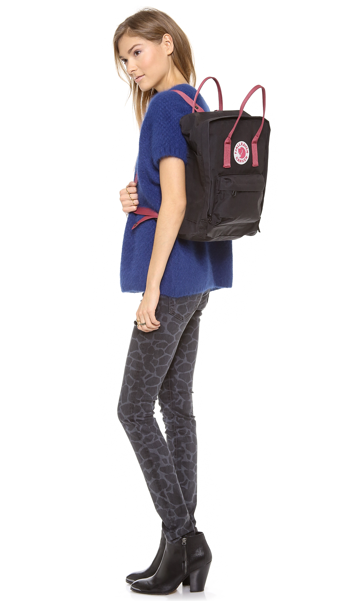 1f57b474a Fjallraven Kanken Backpack - Black/Graphite in Black - Lyst