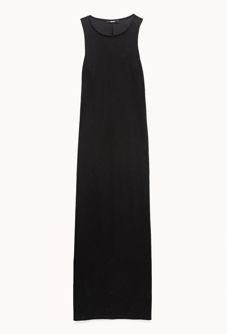 Forever 21 Minimalist Maxi Dress In Black Lyst