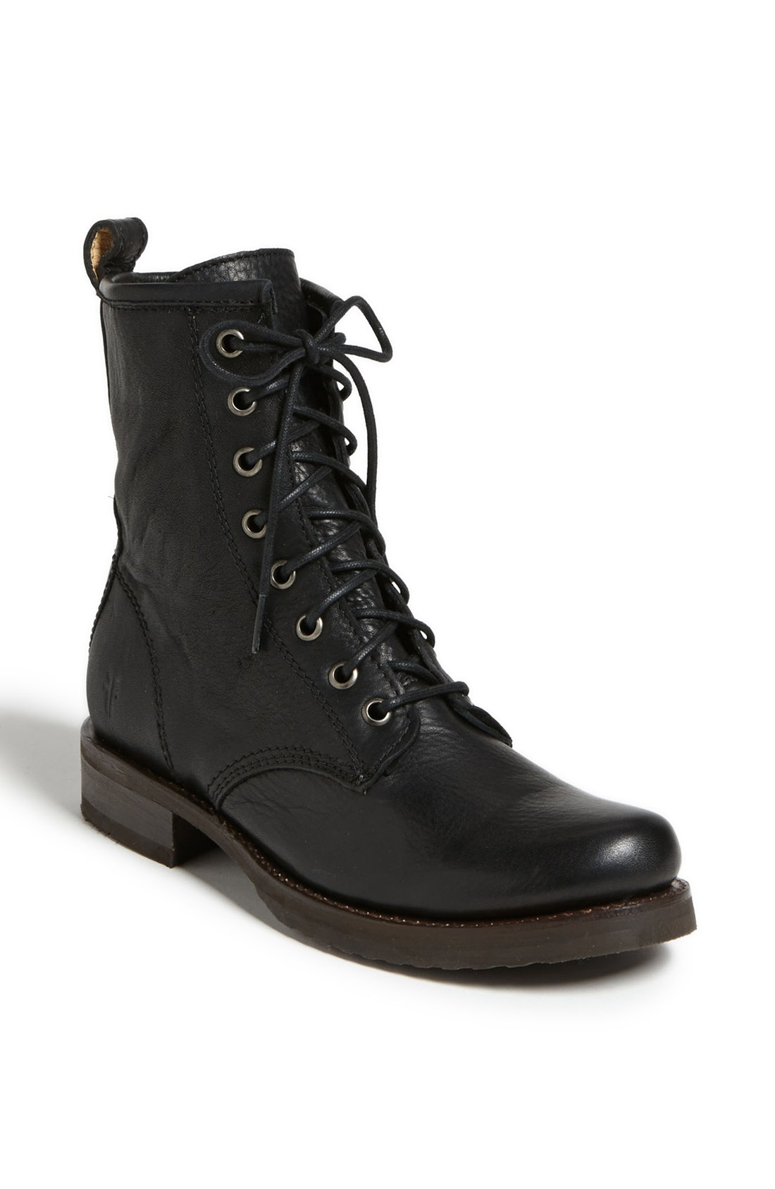 Frye Veronica Combat Boot In Black Lyst