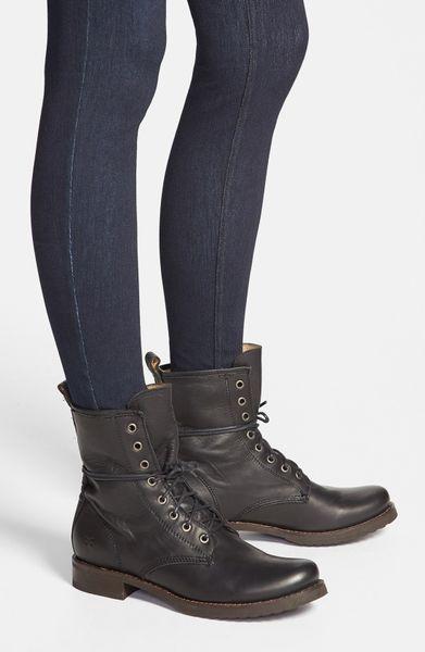 Frye Veronica Combat Boot In Black Lyst