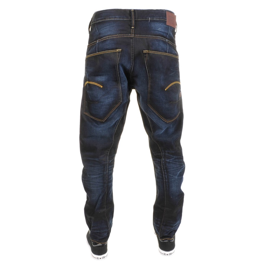 g star raw type c 3d loose tapered jeans in blue for men. Black Bedroom Furniture Sets. Home Design Ideas