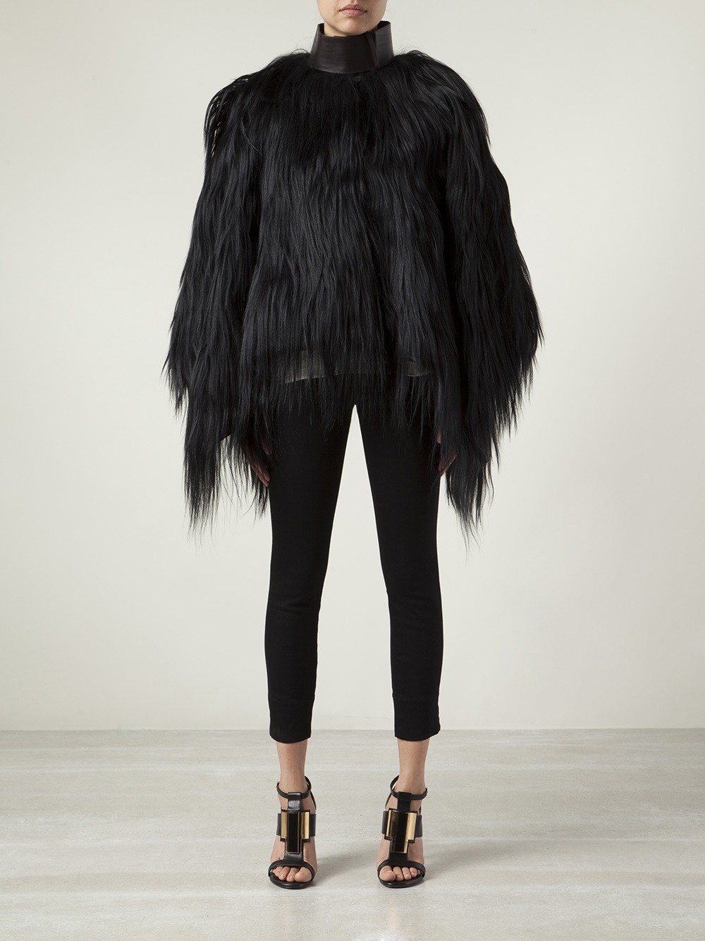Givenchy Goat Fur Coat In Black Lyst