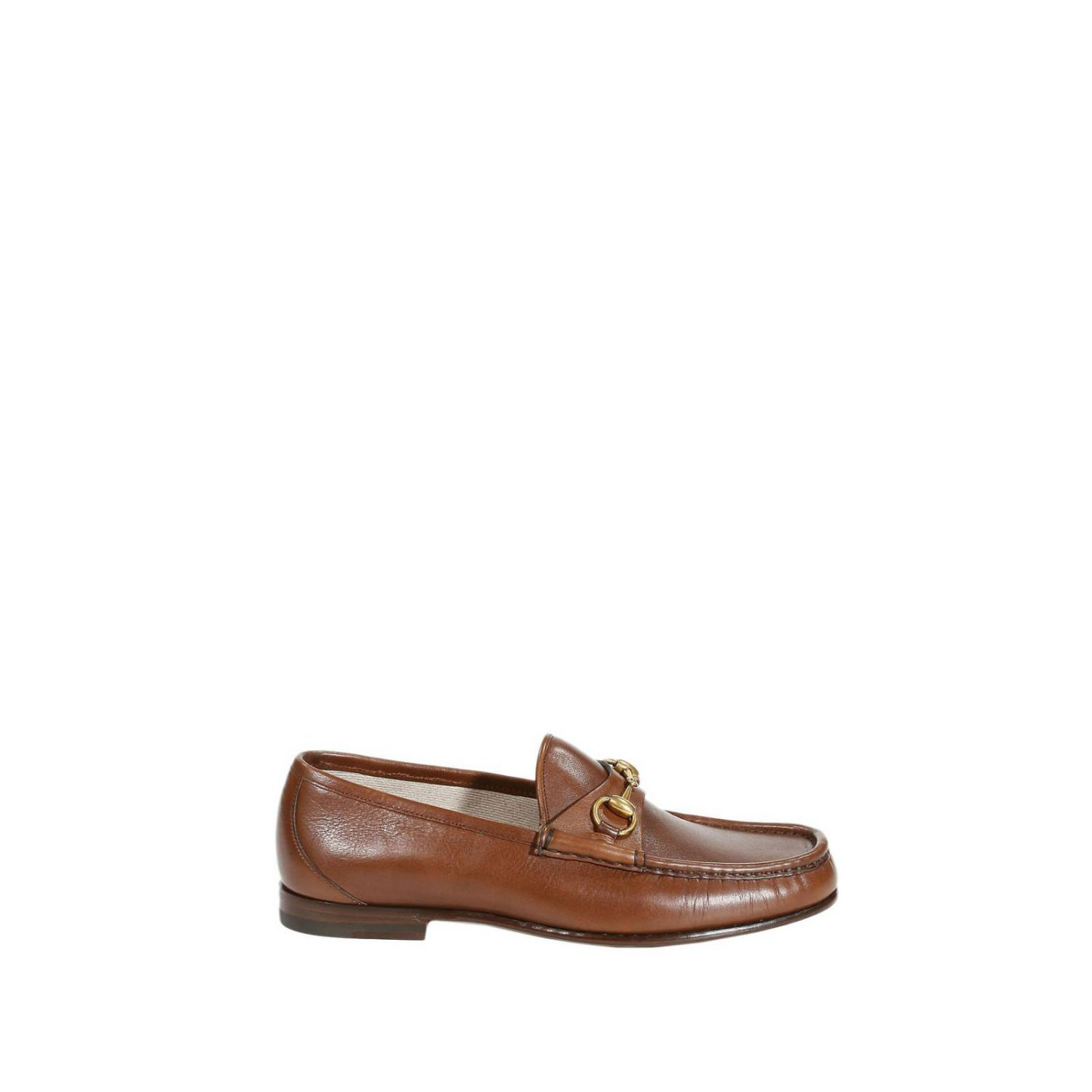 Gucci Shoes Leather Sole Roos Loafers Leather Horsebit In Brown For Men | Lyst