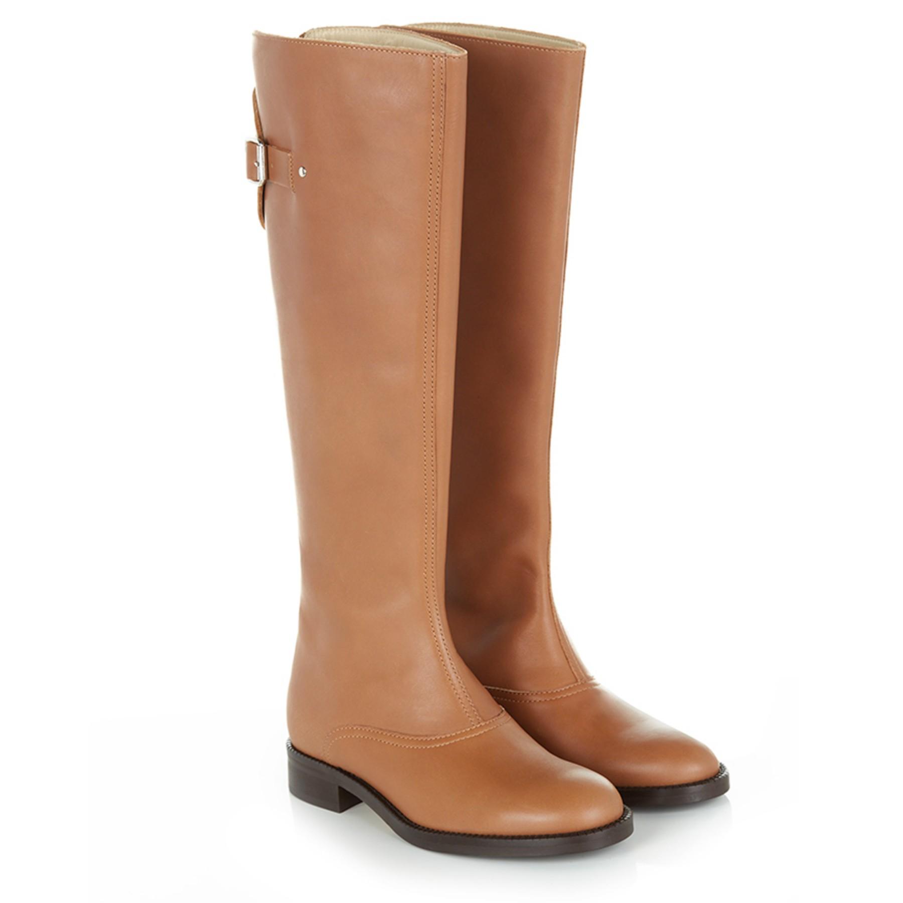 Hobbs Gillie Longboot Knee Boots in Tan (Brown)