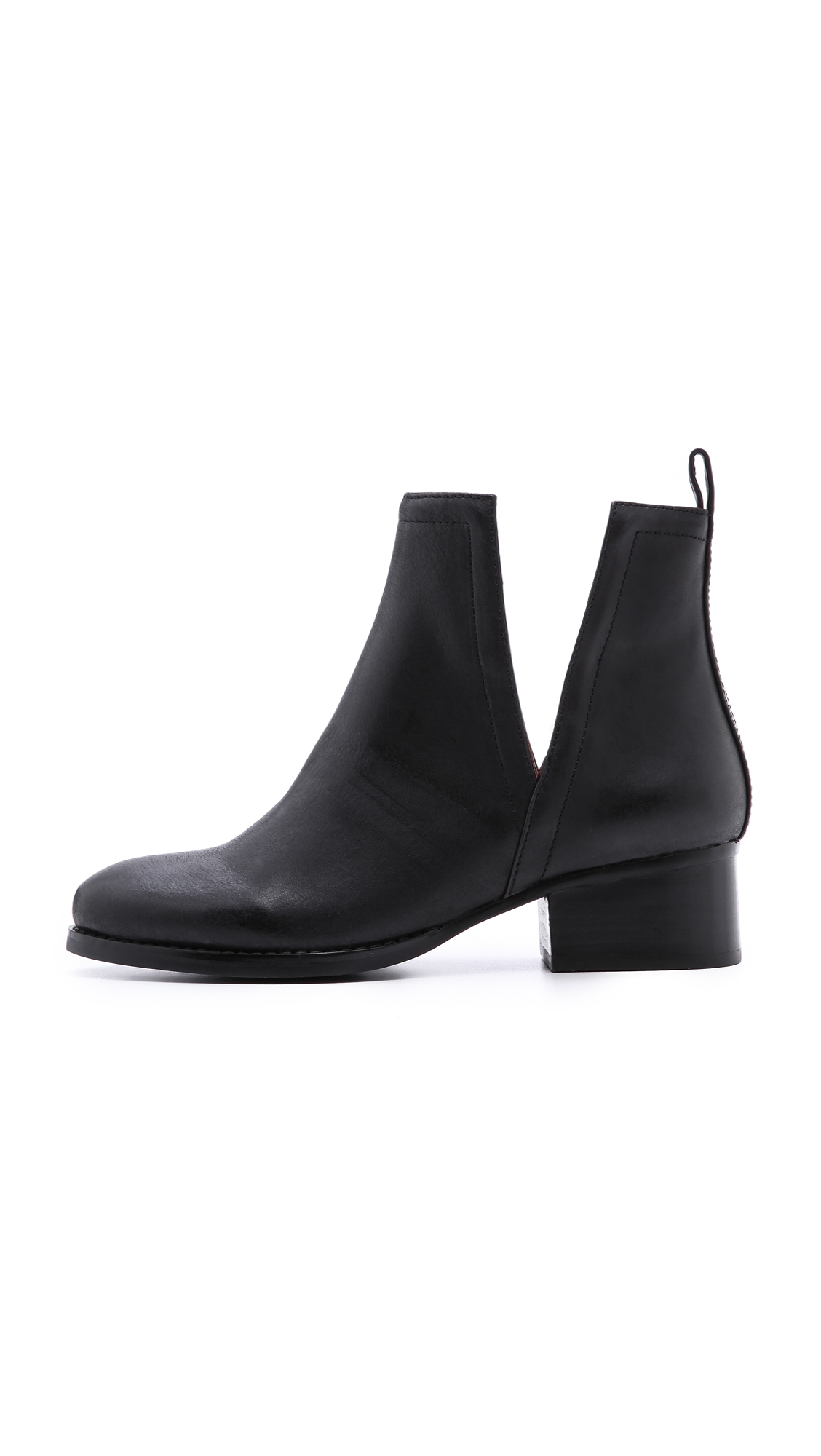 Jeffrey Campbell Oriley Cutout Ankle Booties In Black Lyst