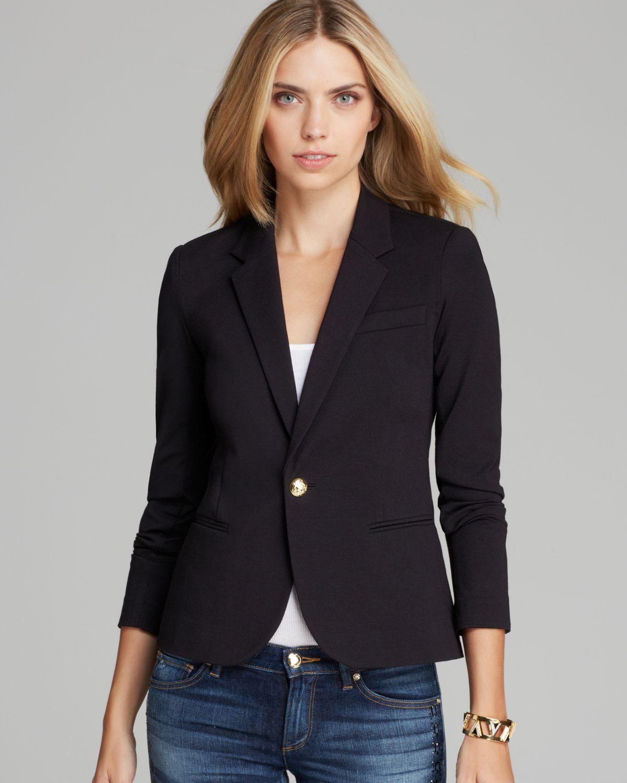 ece64df307c0 Lyst - Juicy Couture Blazer Solid Ponte in Black