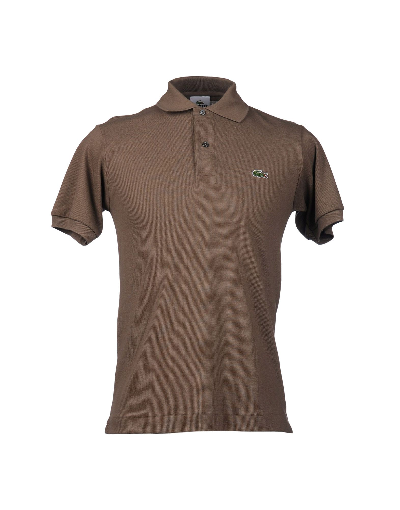 Lacoste polo shirt in brown for men dark brown lyst for Black brown mens shirts