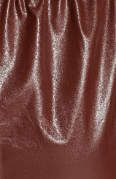 Leith Cutout Faux Leather Dress In Brown Brown Chocolate
