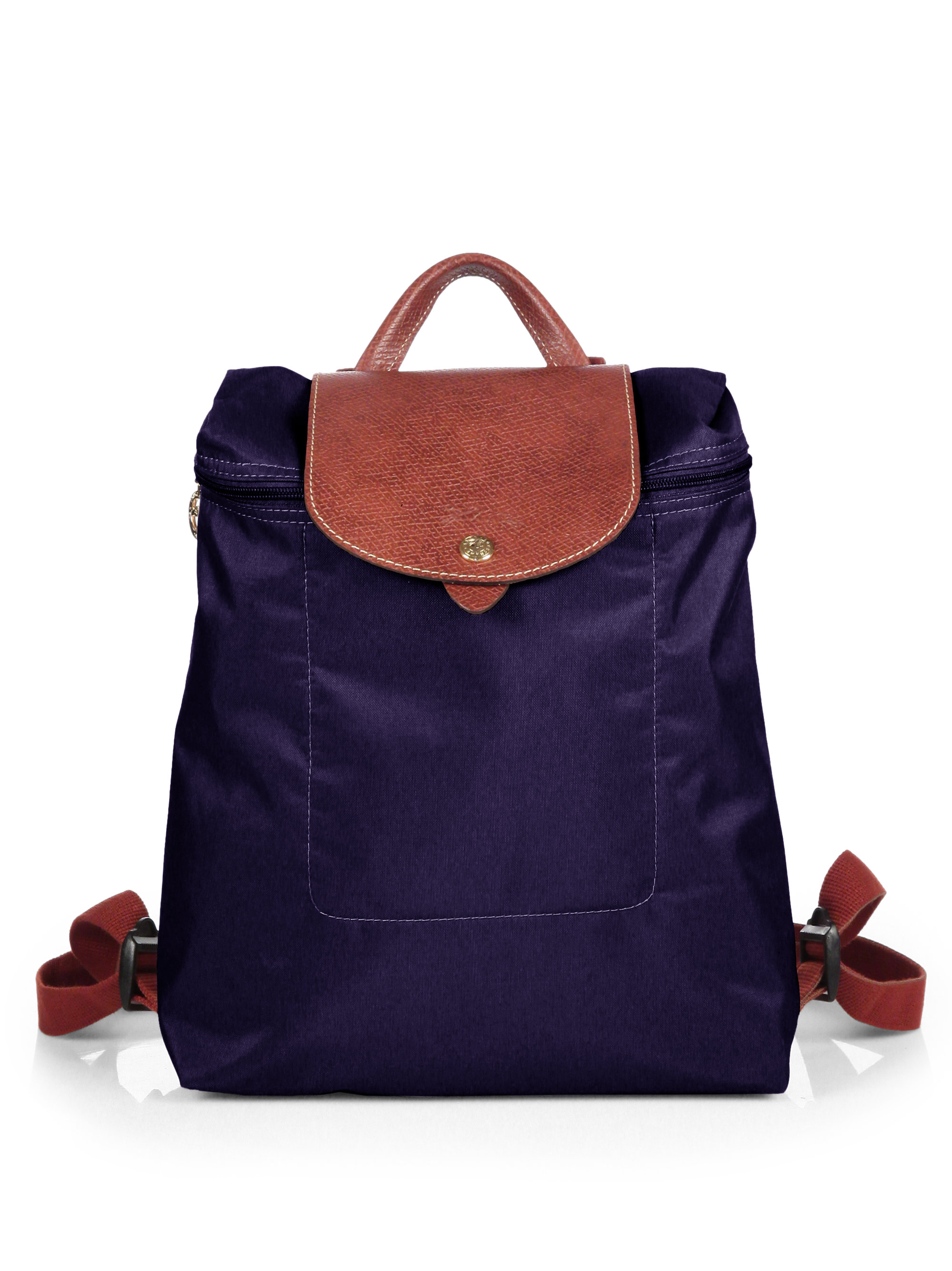 longchamp le pliage backpack in blue bilberry lyst