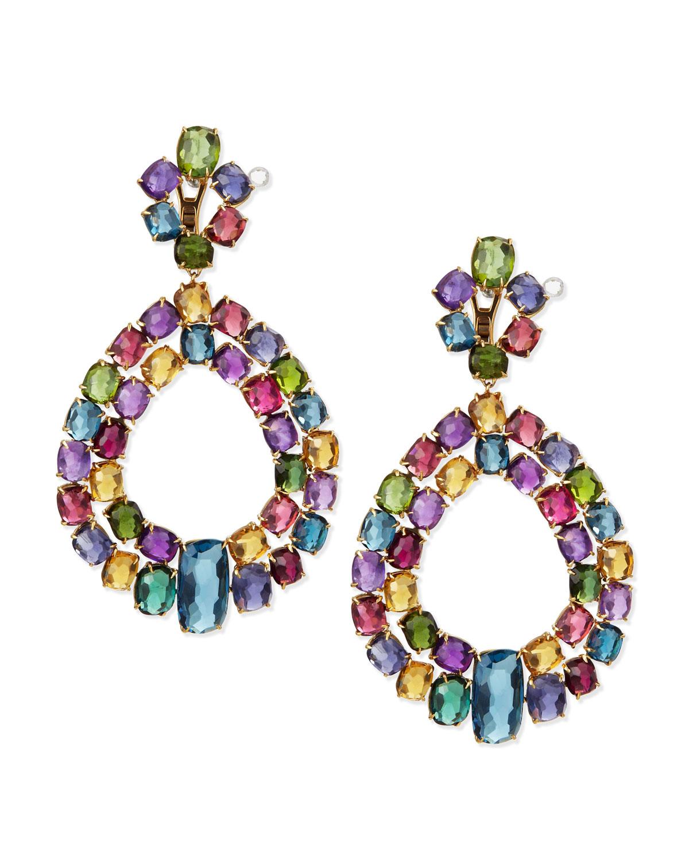 Marco Bicego Murano 18k Multi Stone Chandelier Earrings Lyst