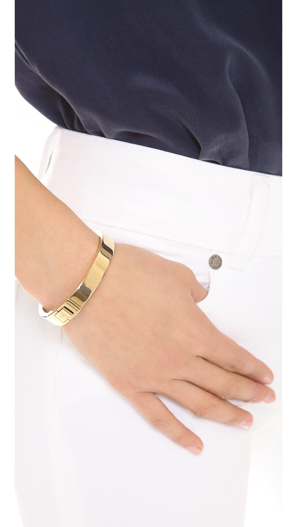 6c47caee5397e Michael Kors Metallic Hinged Bangle Bracelet - Gold
