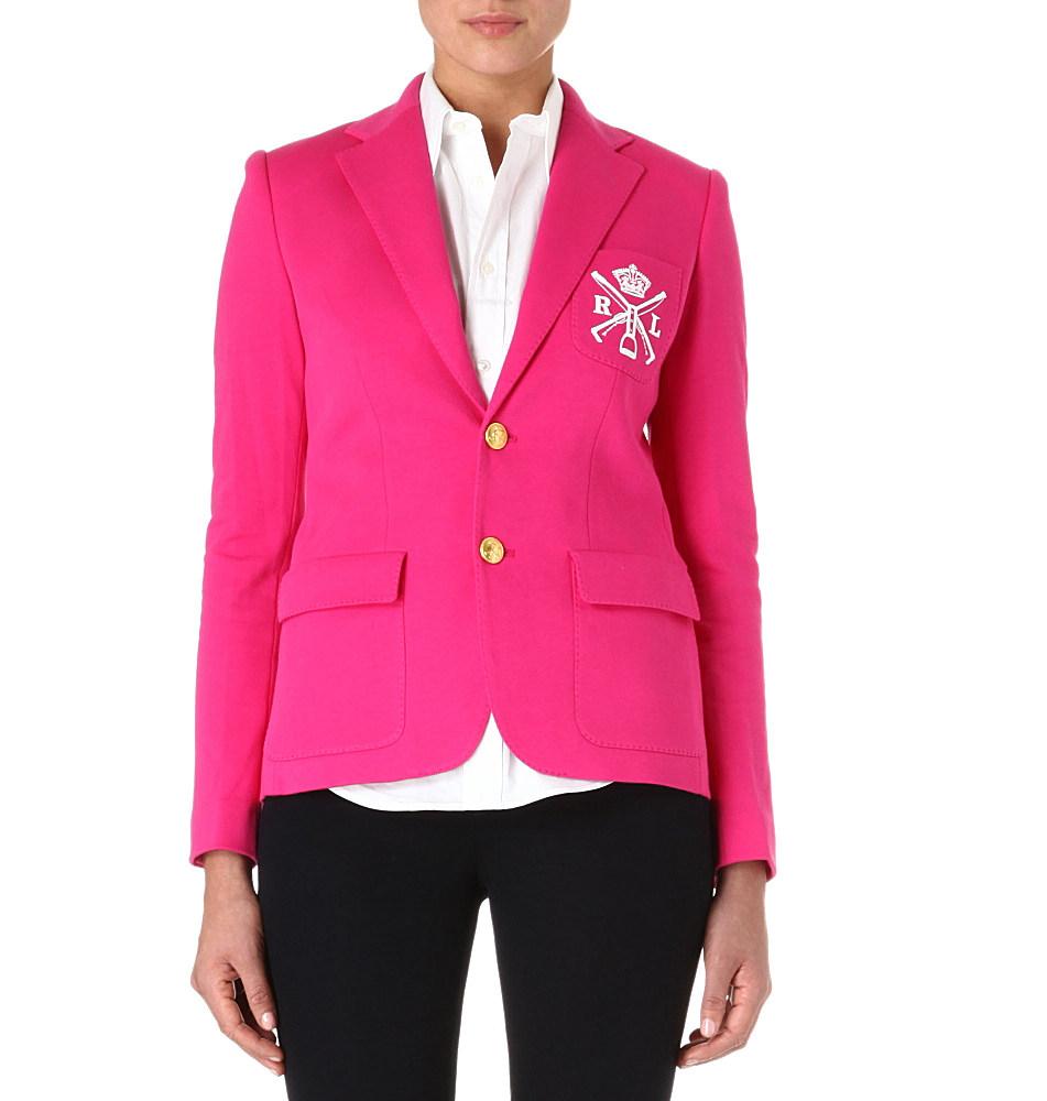 lyst ralph lauren custom blazer in pink. Black Bedroom Furniture Sets. Home Design Ideas