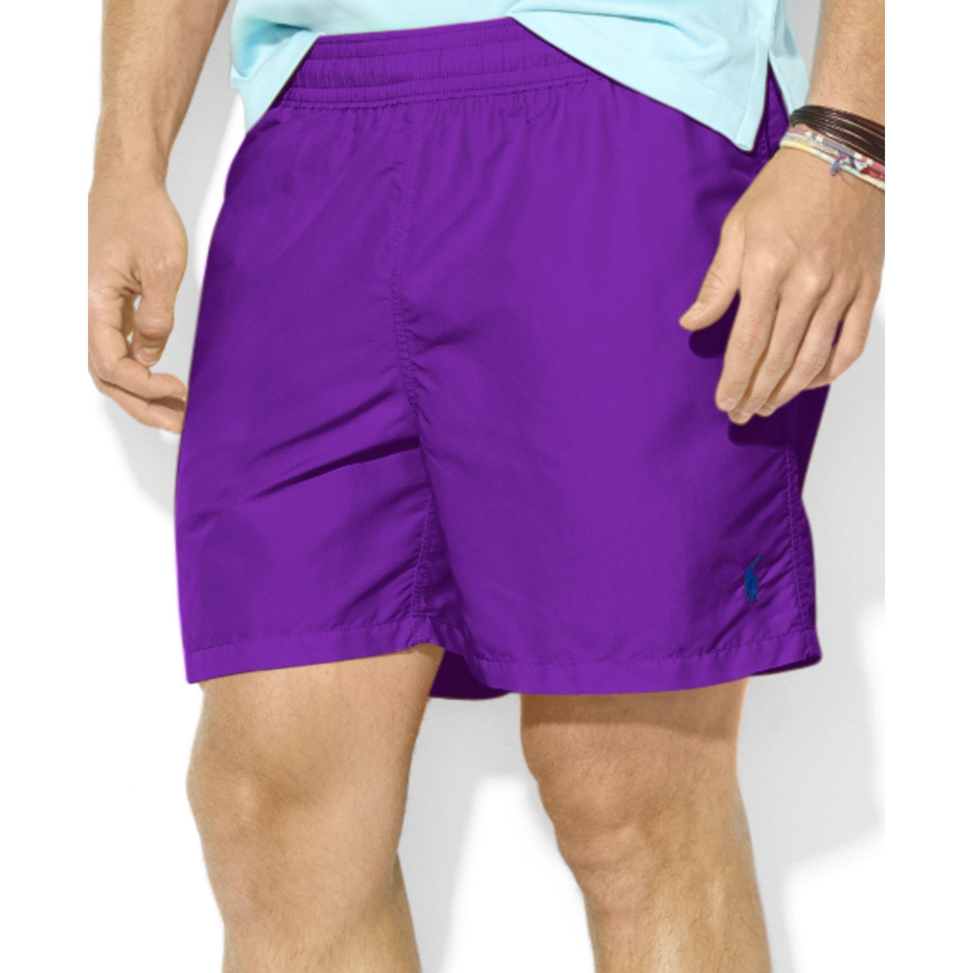 3af59067685f8 ... norway lyst ralph lauren polo hawaiian solid swim shorts in purple for  men e3d73 d8dde