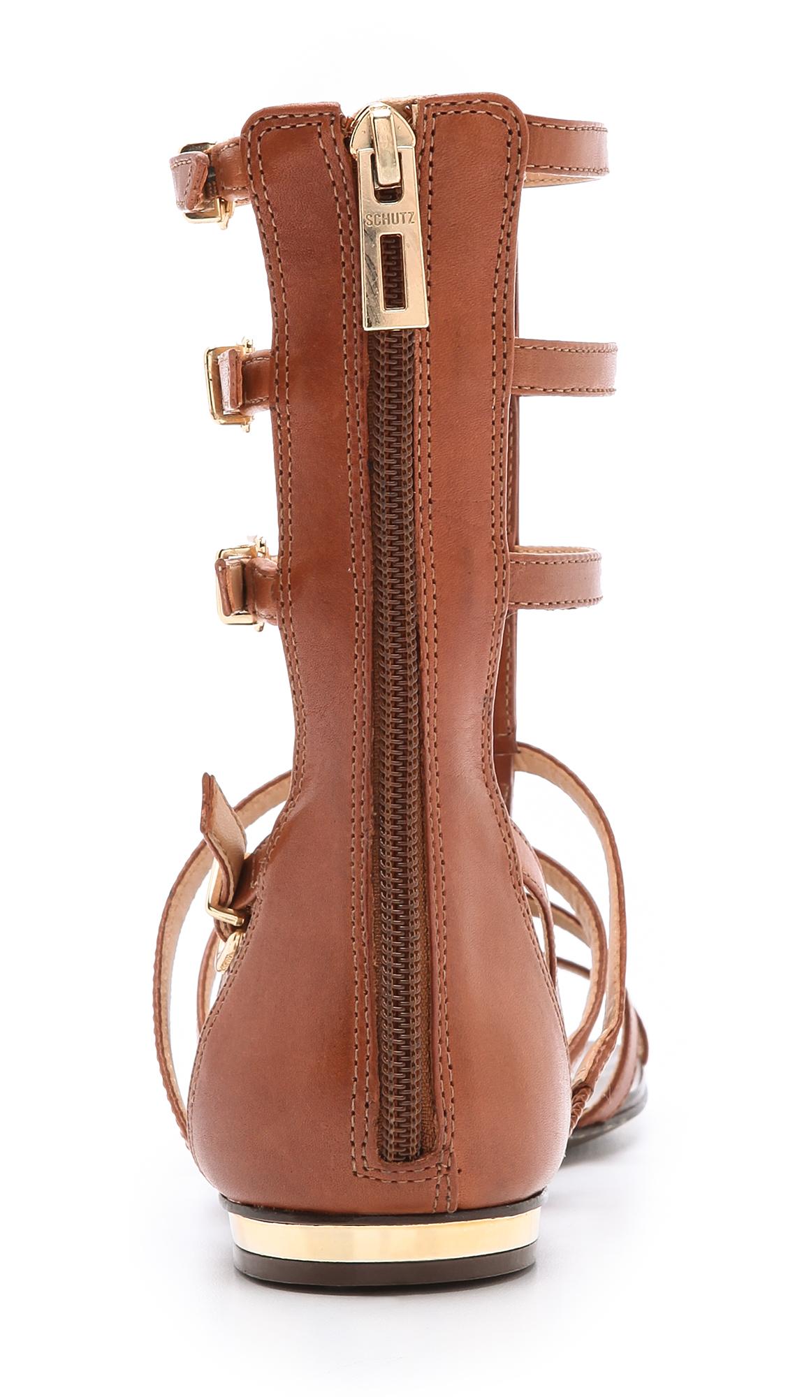 Schutz Fanny Gladiator Sandals In Brown Lyst