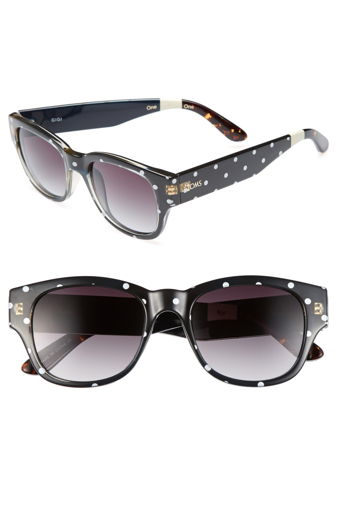 Toms Gigi 52mm Sunglasses in Black | Lyst