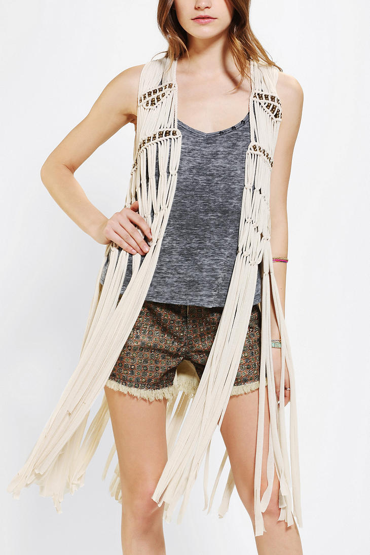 macrame vests outfitters staring at macrame beaded vest in 1446