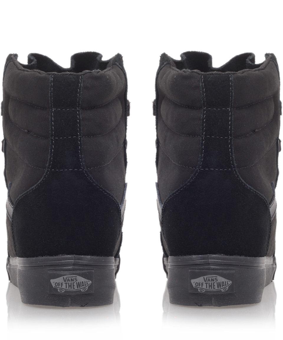 Vans Sk Hi Black Wedge Shoes