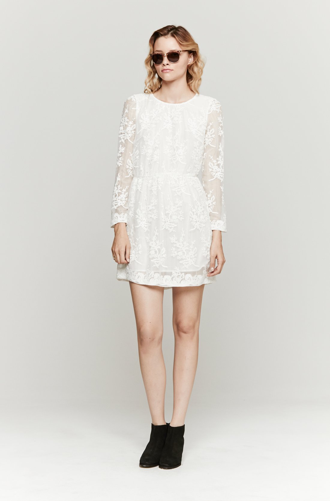 6a5cde9eca34 Zimmermann Celestial Embroidered Dress in White - Lyst