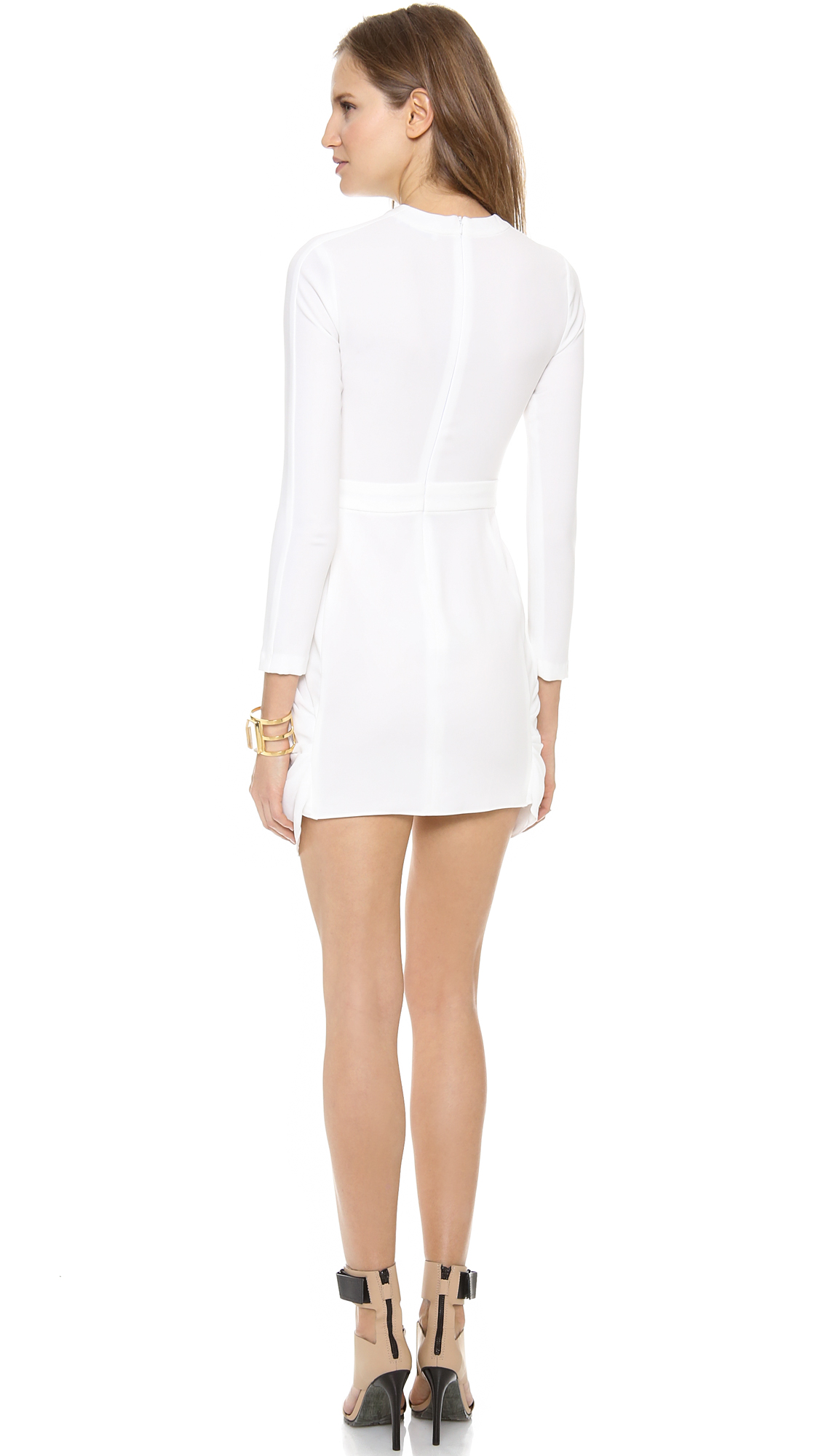 A L C Tolan Dress In White Lyst