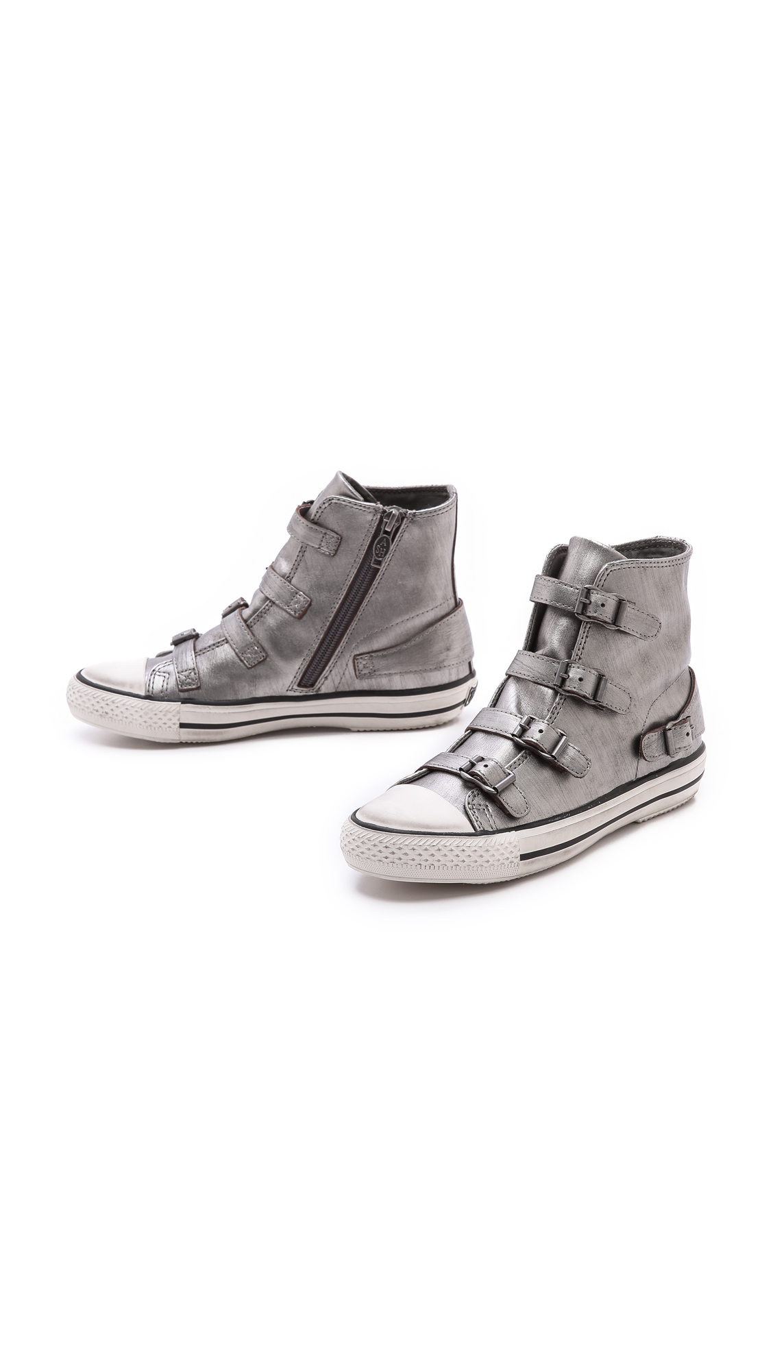 lyst ash virgin high top sneakers in gray. Black Bedroom Furniture Sets. Home Design Ideas