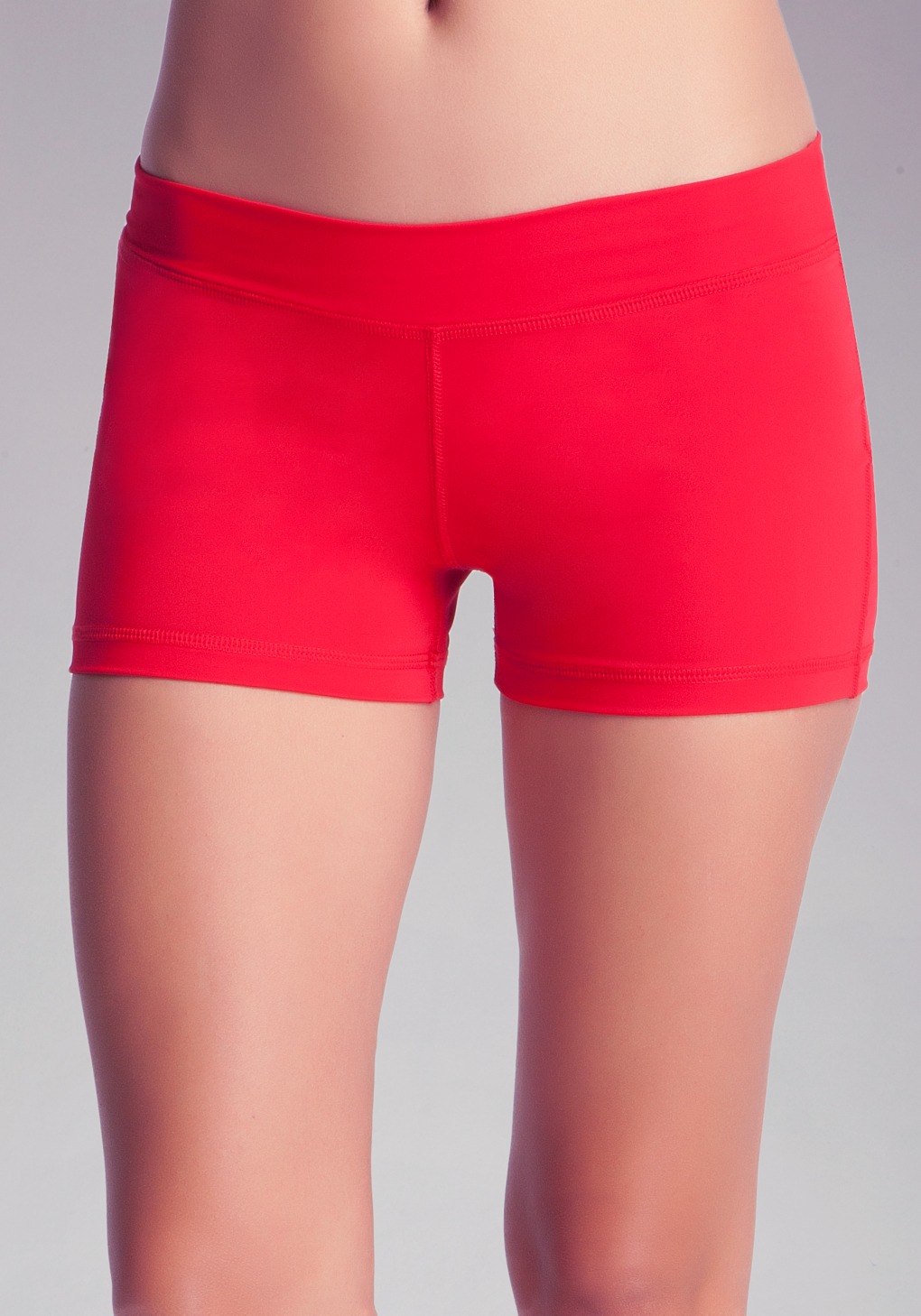 Bebe Boy Shorts in Red | Lyst