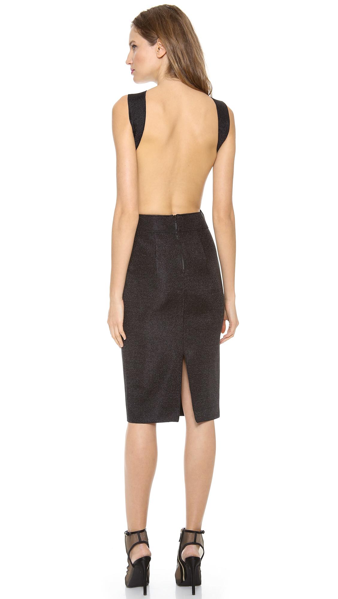 Dion Lee Vertigo Backless Knit Dress In Black Lyst