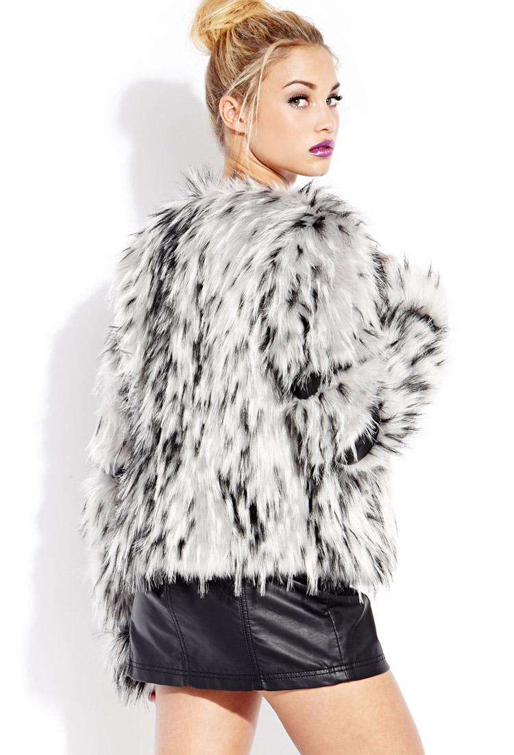dfdabc2c2c7c Forever 21 Leopard Faux Fur Coat. Because Shanna Said So Leopard Coat  Vigoss Denim