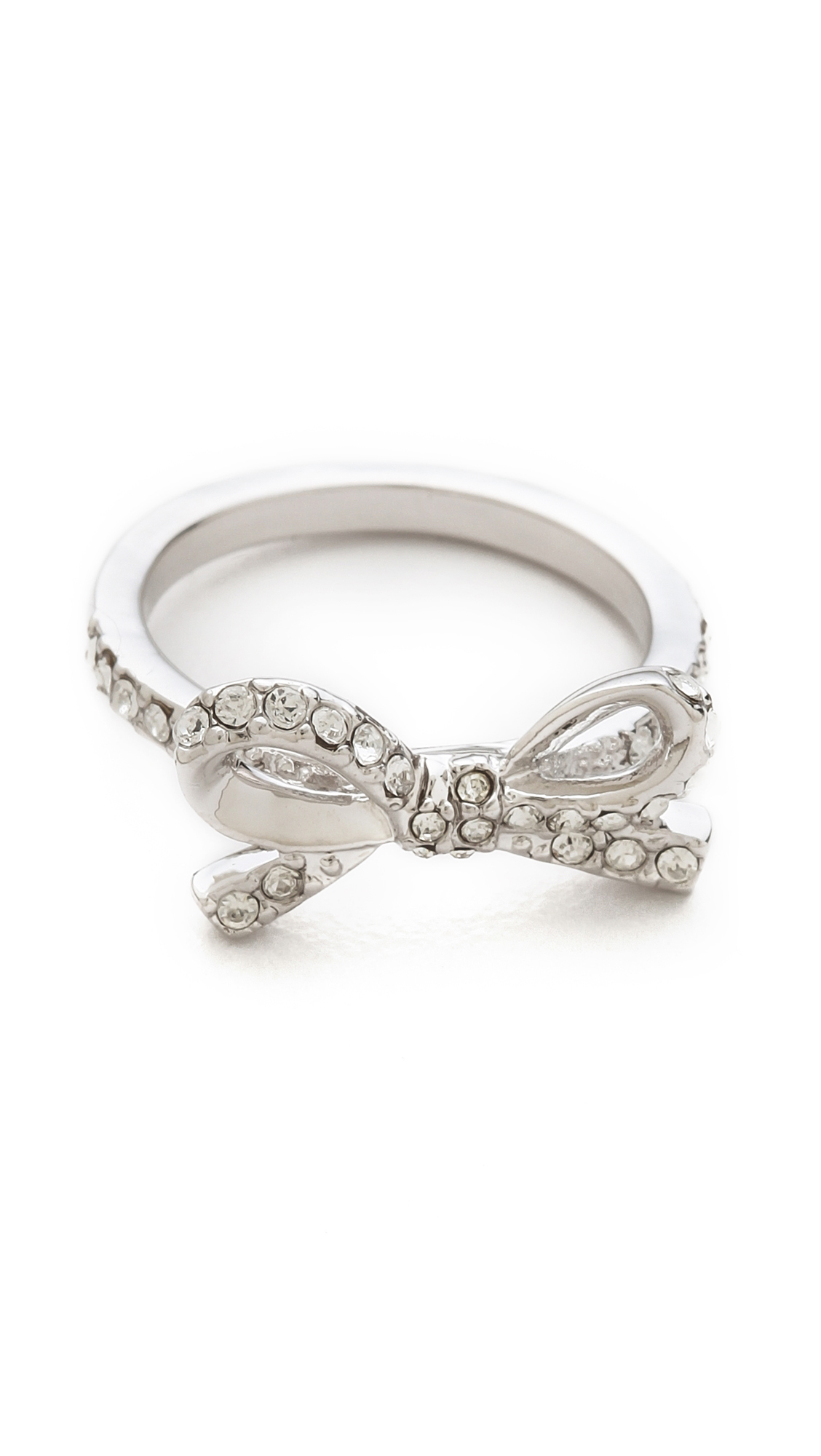 Ring Bow Il Gioiello Personalizzabile Con La Tua Nailart: Kate Spade New York Skinny Mini Pave Bow Ring In Metallic