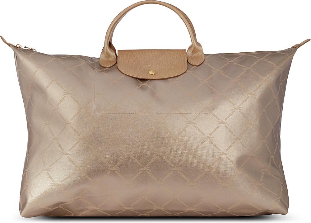 Longchamp Lm Metallic Travel Bag in Metallic - Lyst 4b3b216f2b669