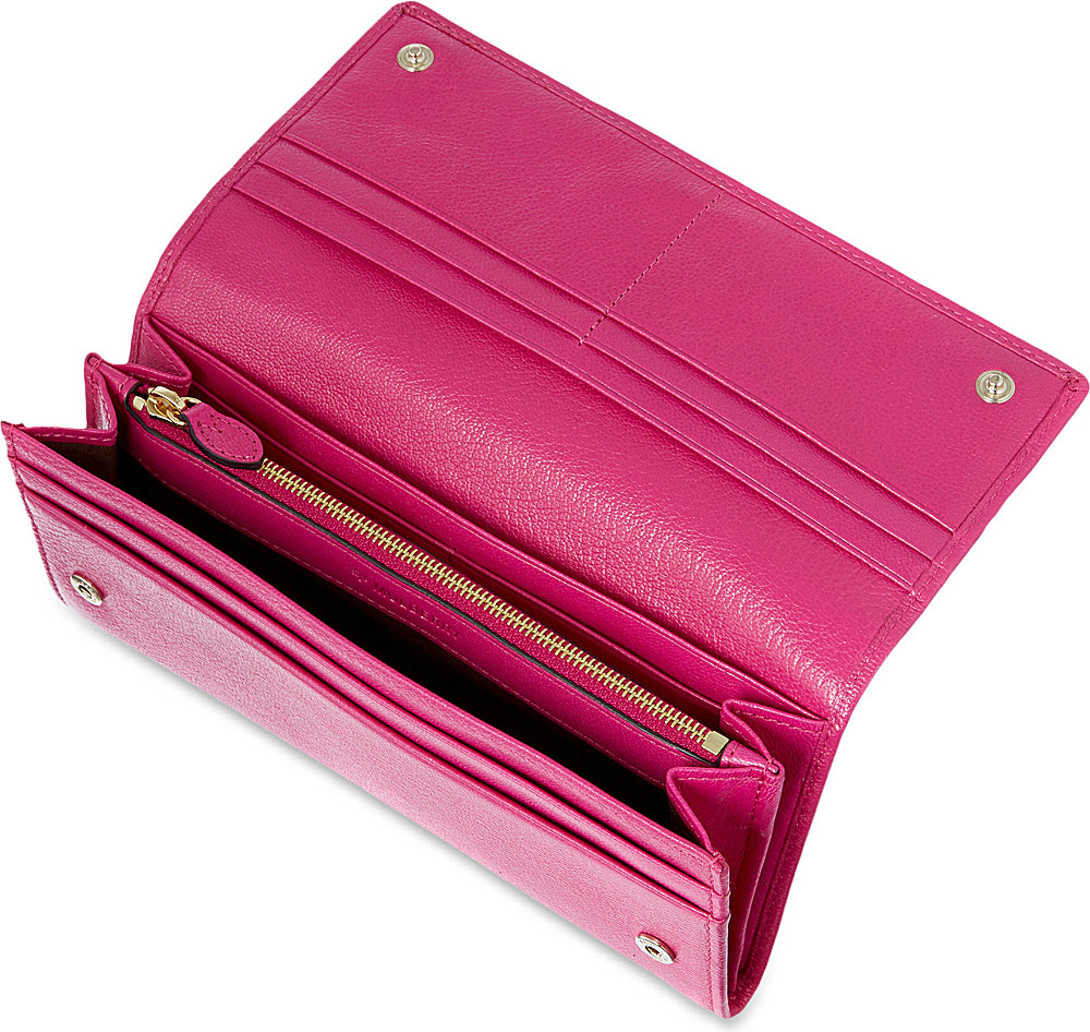 9d3a6ca5e57 ... official mulberry continental leather wallet in pink lyst a0a7d c1ffb  ...