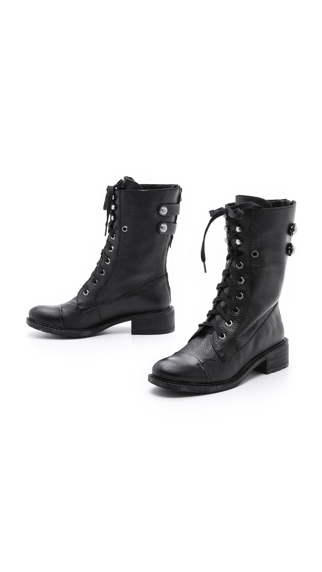 Lyst Sam Edelman Darwin Combat Boots In Black