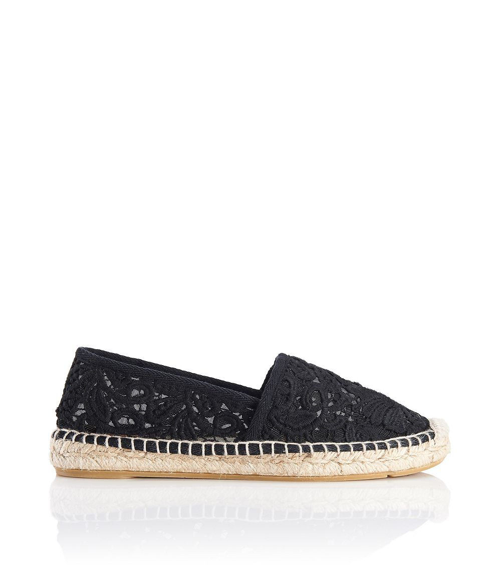 Lucky Black Mesh Flat Shoes