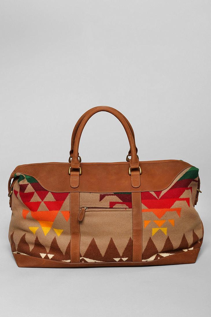 Lyst - Urban Outfitters Pendleton Leather Weekender Bag in Brown for Men 2ec6805522fd8