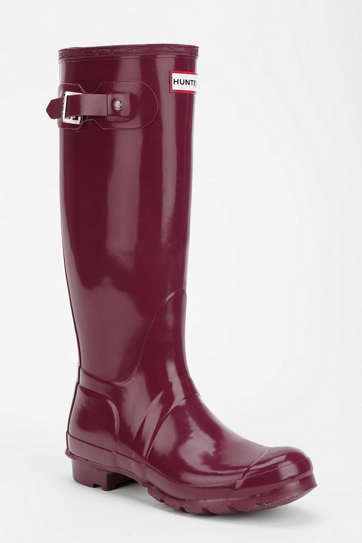 Hunter Original Gloss Rain Boot In Purple Lyst