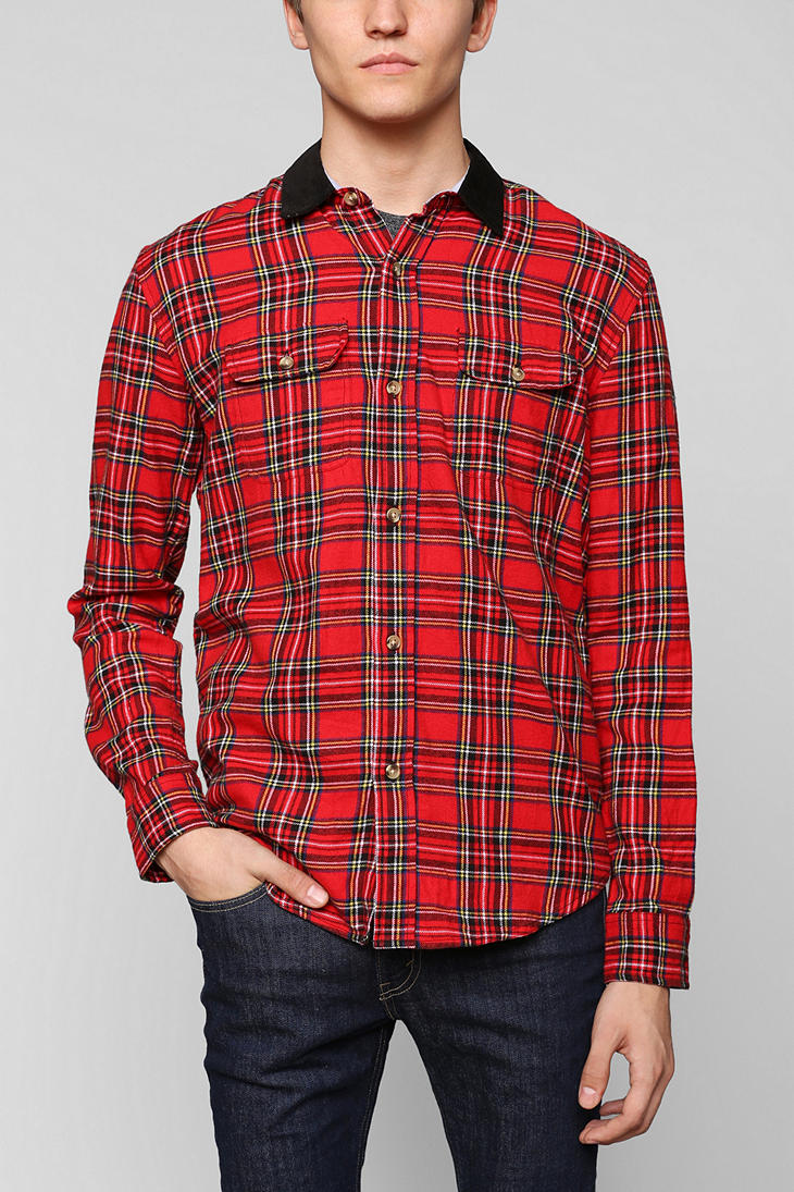 Urban Outfitters Hawkings Mcgill Tartan Flannel Button