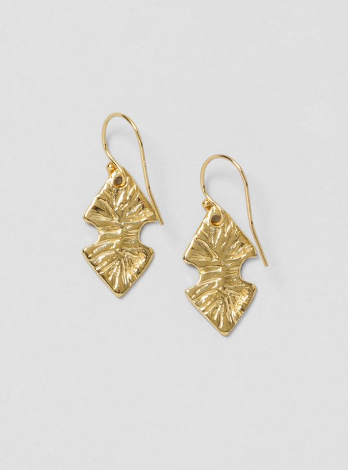 odette new york arrowhead earrings in gold bronze