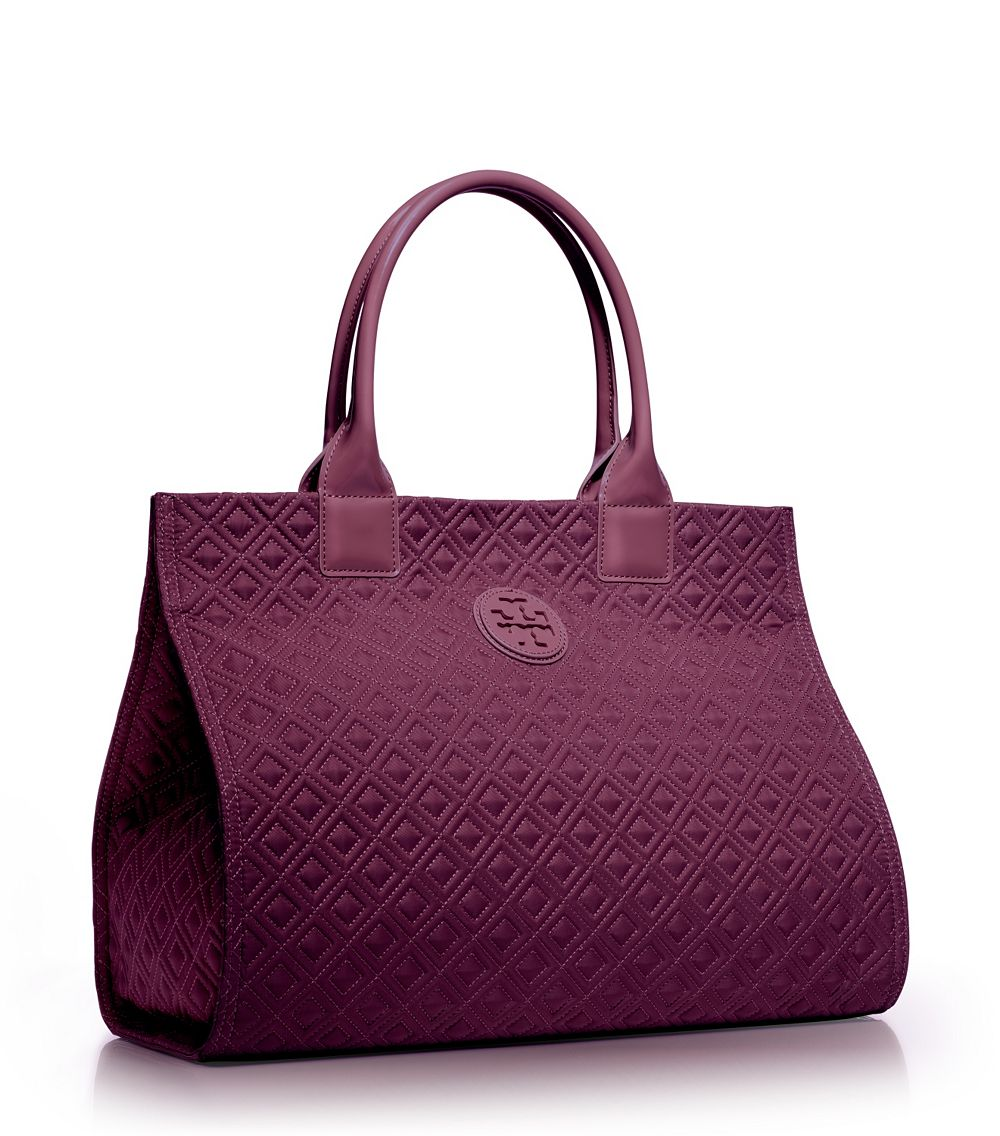69d0d2c15422f Lyst - Tory Burch Ella Quilted Tote in Purple