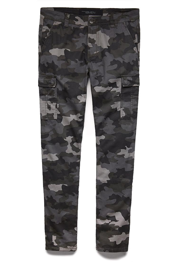 Lyst Forever 21 Combat Camo Pants In Black For Men