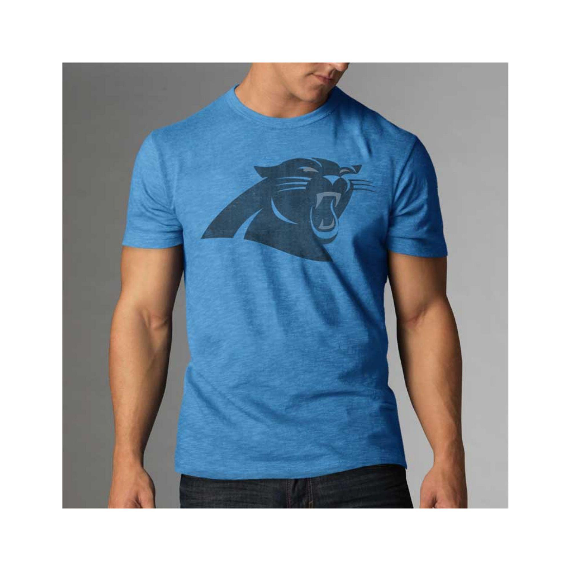 47 Brand Mens Carolina Panthers Logo Scrum Tshirt In Blue