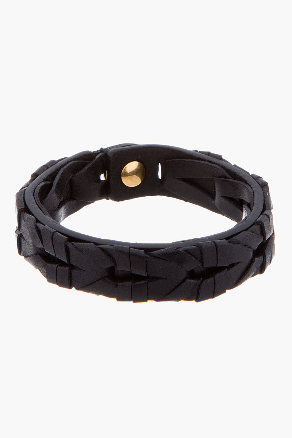 Lyst Alexander Mcqueen Black Braided Leather Bracelet In