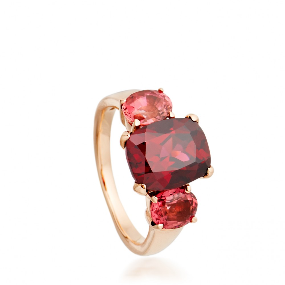 Lyst Dinny Hall Rhodolite Garnet Cocktail Ring In Pink