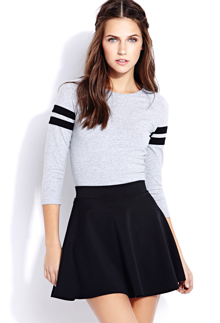 21 Best Images About Sauna And Steam Rooms On Pinterest: Forever 21 Standout Stripes Crop Top In Gray